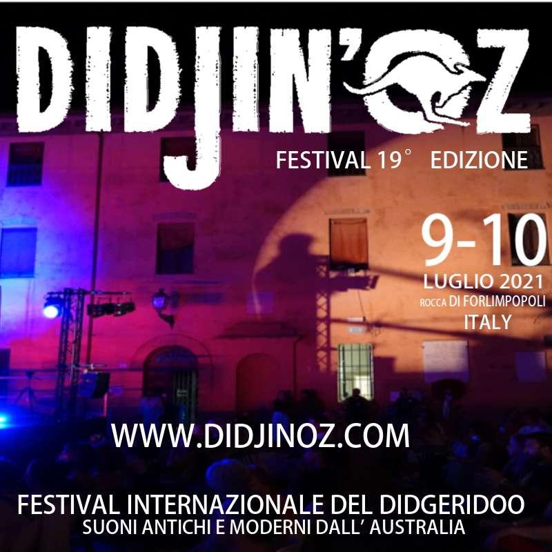 DIDJIN'OZ - Festival Internazionale di Didgeridoo - venerdì 9 luglio '21  Piazza Fratti Forlimpopoli