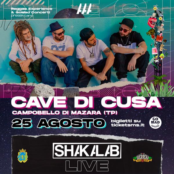 SHAKALAB live - Cave di Cusa - 25 agosto CAVE DI CUSA Campobello di Mazara