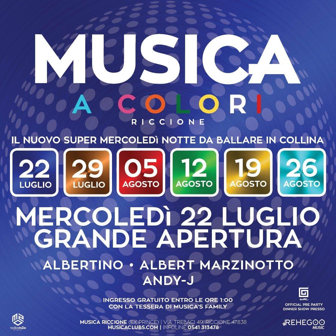 Musica a Colori w/ Albertino • Albert Marzinotto • Andy J Musicariccione RICCIONE