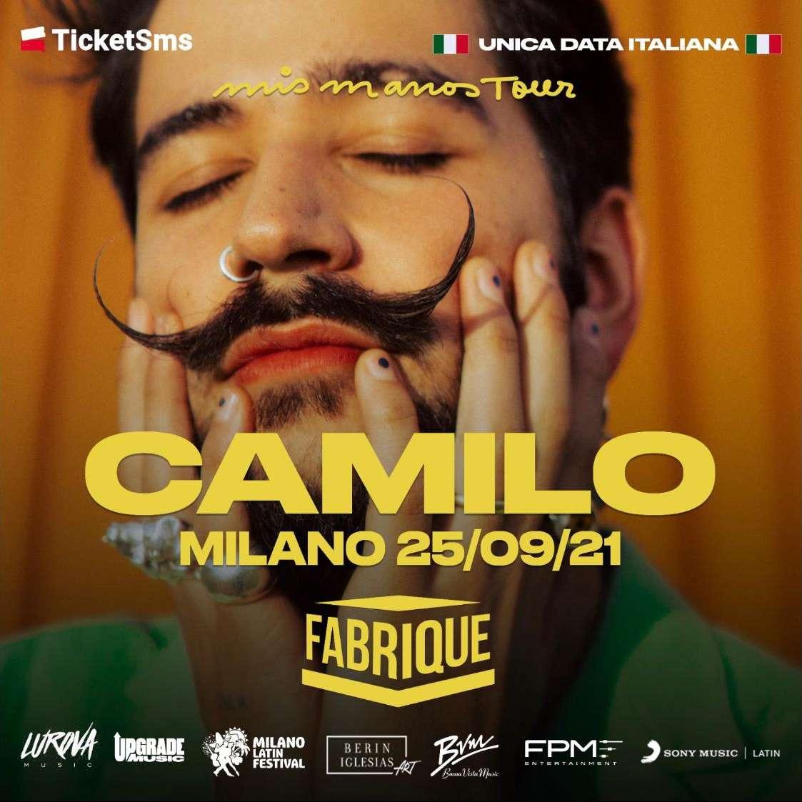 Camilo - Mis Manos Tour - Fabrique Milano Fabrique Milano / MI