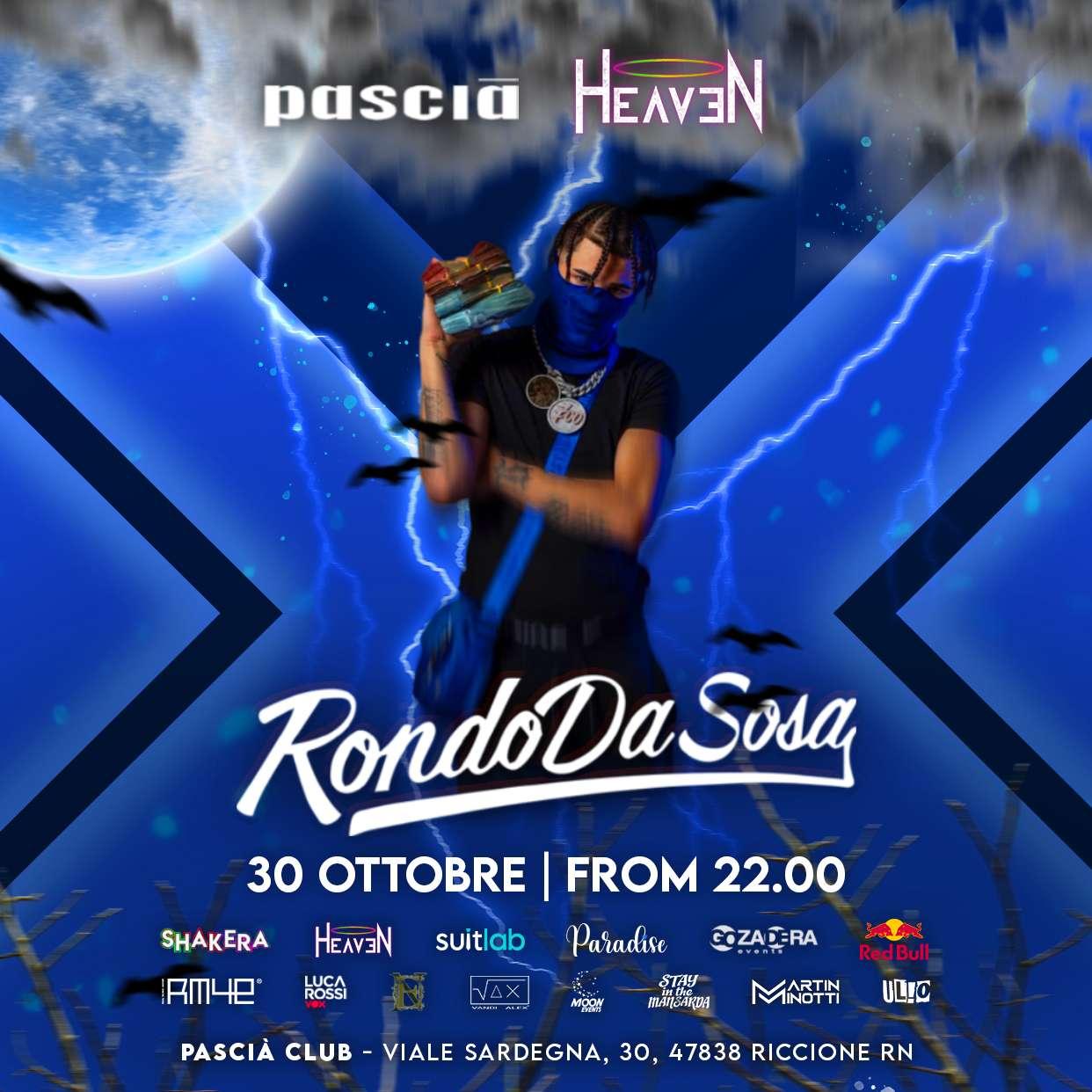 PASCIA RICCIONE HALLOWEEN NIGHT *RONDO DA SOSA* Pascia Club Riccione  / RN