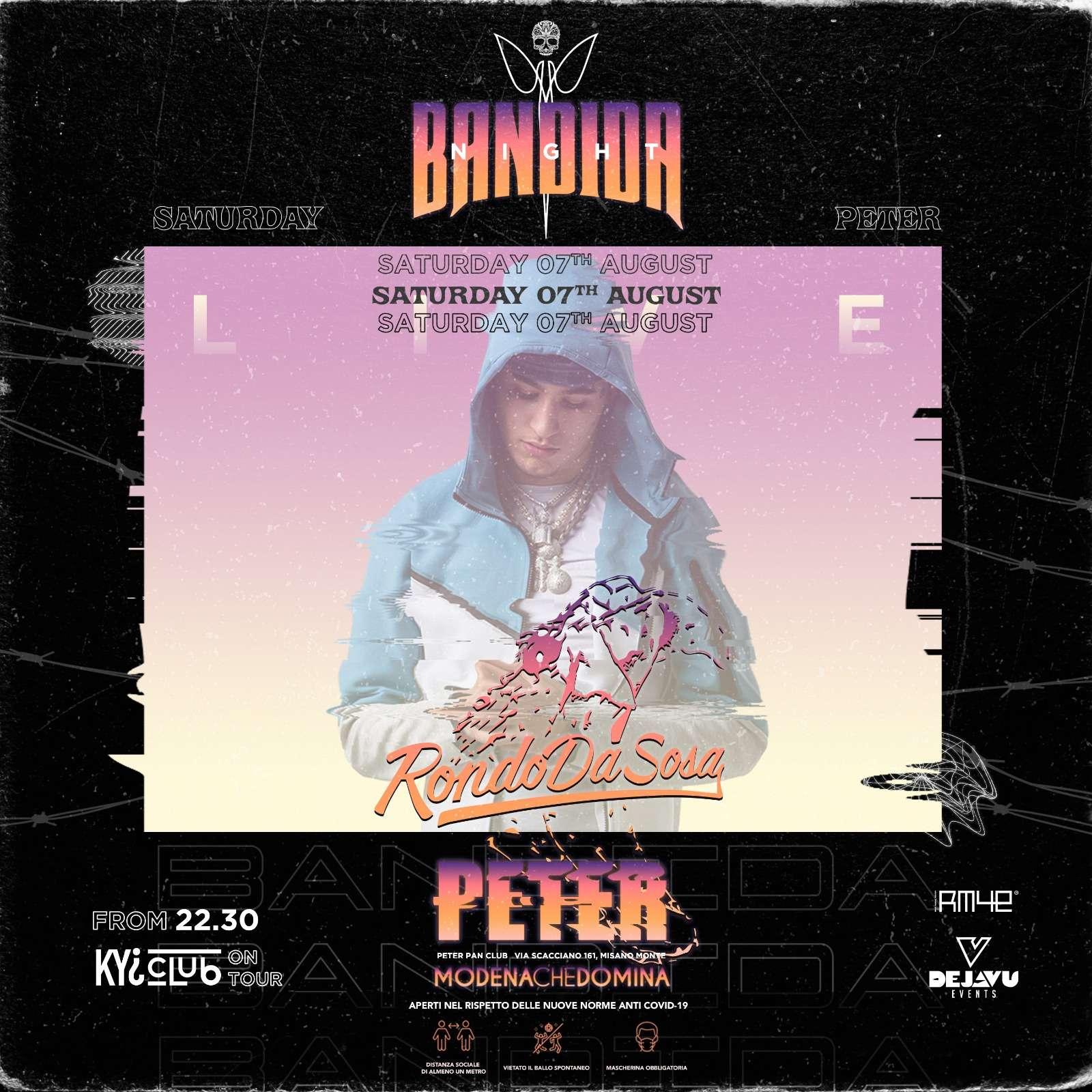 BANDIDA w/ RONDO - SABATO 7 AGOSTO Peter Pan Club / RN