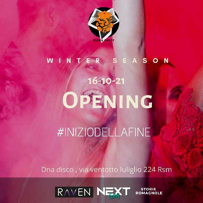 Riana Opening Winter Season Dna Disco San Marino / SA