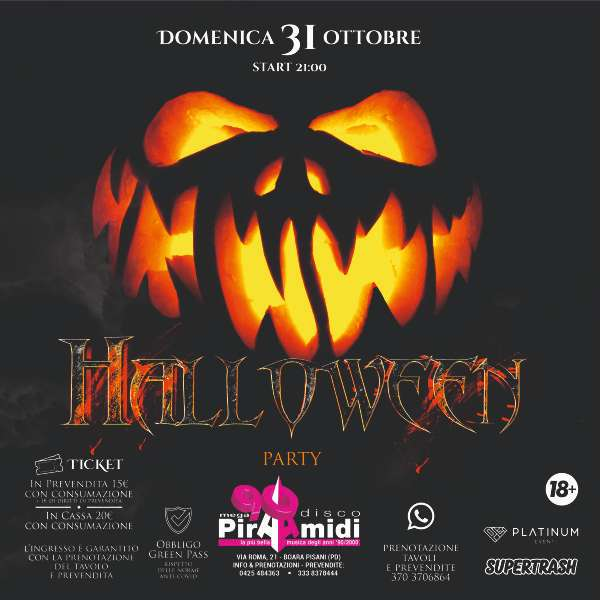 Halloween 2021 - Le Piramidi - Discoteca Le Piramidi BOARA PISANI